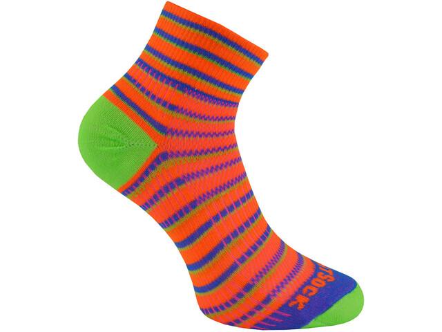 Wrightsock Coolmesh II Quarter-Cut Socken orange/blue/green